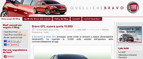 Il blog della Fiat Bravo